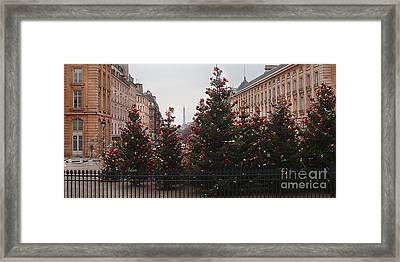 Eiffel Tower Peek-a-boo From The Pantheon Panorama Framed Print