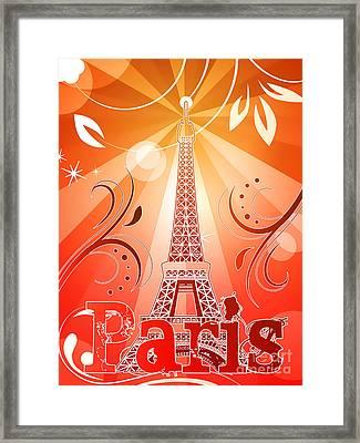 Eiffel Tower Framed Print by Sandra Hoefer