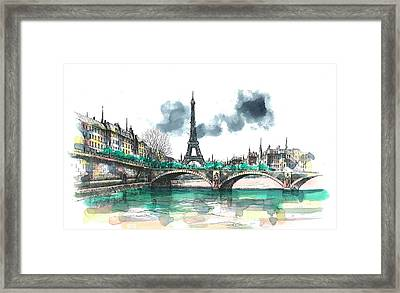 Eiffel Tower Framed Print by Seventh Son