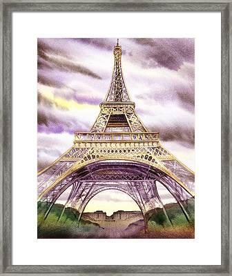 Eiffel Tower Summer In Paris Framed Print