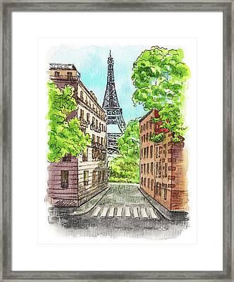 Eiffel Tower Summer Paris Day Framed Print