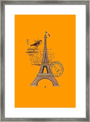 Eiffel Tower T Shirt Design Framed Print