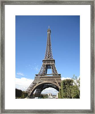 Eiffel Tower Tarped Ix Paris France Framed Print