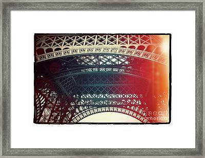 Eiffel Tower Tour Eiffel. Paris. France. Europe. Framed Print by Bernard Jaubert