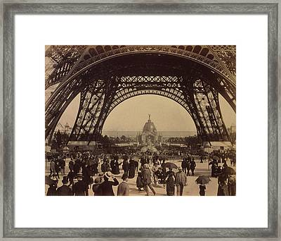 Eiffel Tower, View Toward The Central Framed Print by Everett