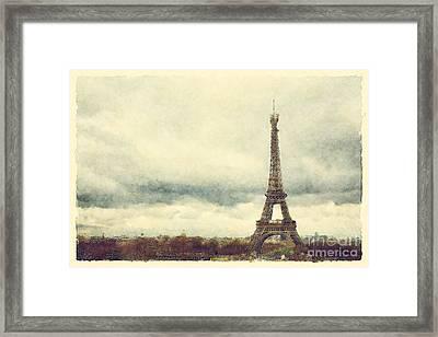 Eiffel Tower Watercolour Framed Print by Jane Rix