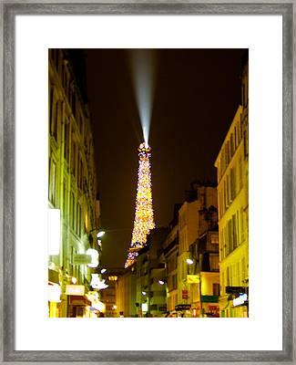 Eiffel Twinkle Framed Print by Mark Currier
