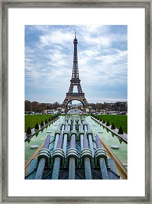 Eiffeltower From Trocadero Garden Framed Print by Rainer Kersten