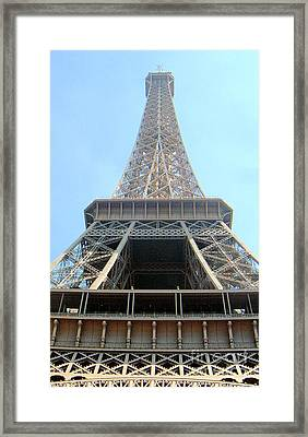 Framed Print featuring the digital art Eiffil Tower Paris France  by Linda Shackelford