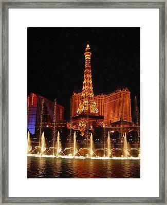 Eiffle Tower Las Vegas Framed Print by Greg Brandt