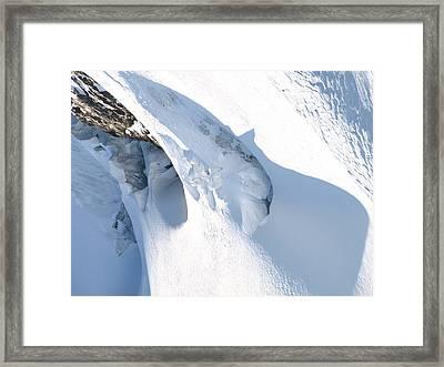 Eiger Framed Print by Randall Slinkard