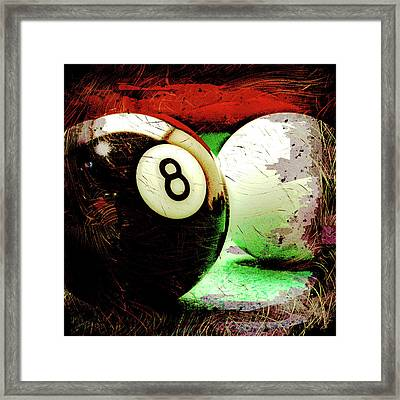 Eight And Cue Ball Framed Print