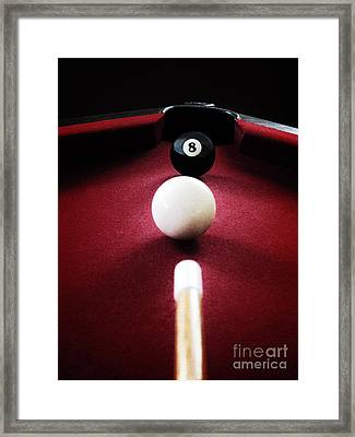 Eight Ball Framed Print by Birgit Tyrrell