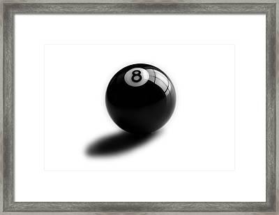 Eight Ball Framed Print by Mark Wagoner