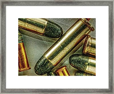 Eight Bullets Framed Print by Bob Orsillo