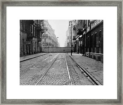 Eight-foot High Concrete Wall Framed Print by Everett
