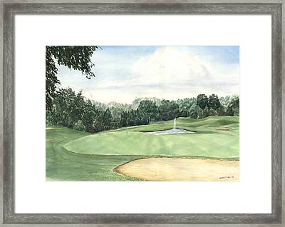 Eight Green The Trails Golf Course Framed Print by Lane Owen