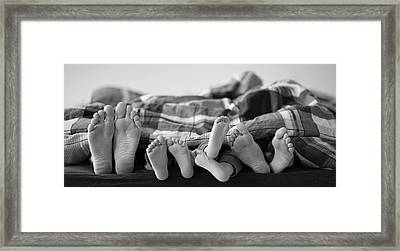 Eight Human Feet Framed Print by Christian Gstöttmayr