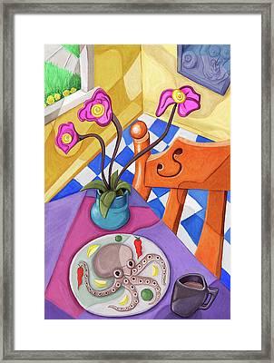 Eight Leg Dinner Framed Print by David Kyte