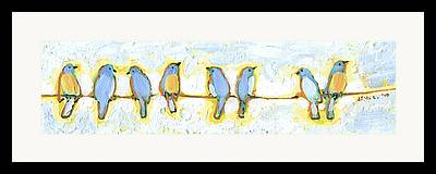 Bird On A Wire Framed Prints