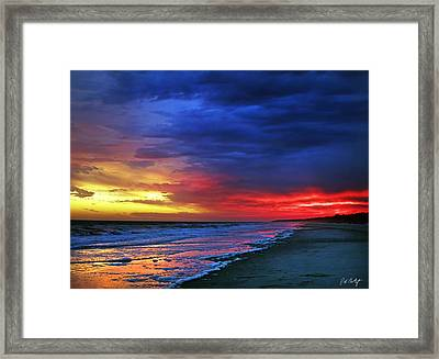 Eight Minutes On The Beach Framed Print
