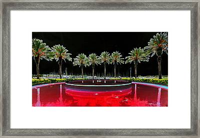 Eight Palms Drinking Wine Framed Print by David Lee Thompson
