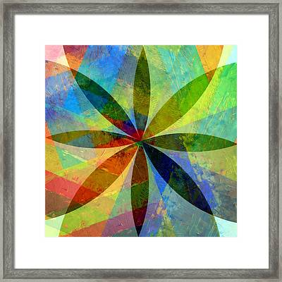 Framed Print featuring the painting Eight Petals by Michelle Calkins