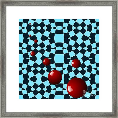 Eight Red Balls Framed Print by Sarah Loft