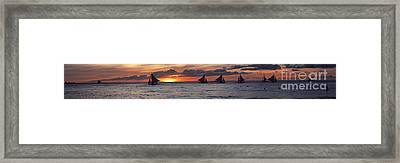 Eight Sailer Framed Print