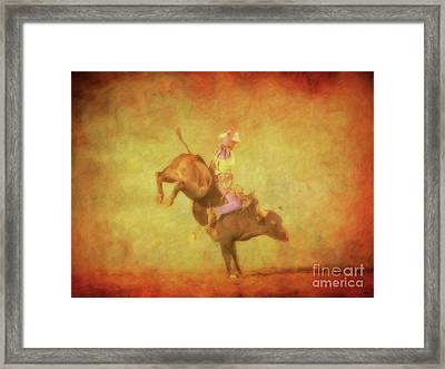 Eight Seconds Rodeo Bull Riding Framed Print