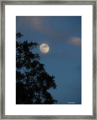 Framed Print featuring the photograph Eight Thirty Two Pm by Greg Patzer