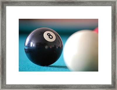 Eightball Framed Print by Robert Meanor