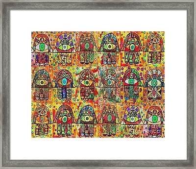 -eighteen Vintage Chai Hamsas Framed Print
