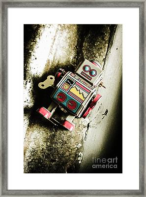 Eighties Cybernetic Droid  Framed Print