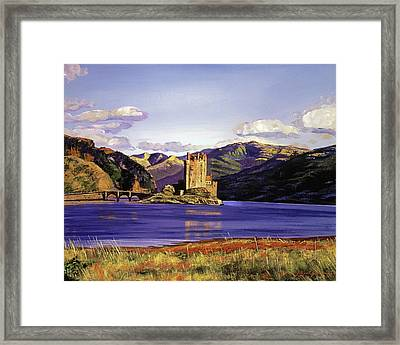 Eilean Donan Castle Framed Print by David Lloyd Glover