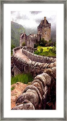Framed Print featuring the painting Eilean Donan Castle by James Shepherd