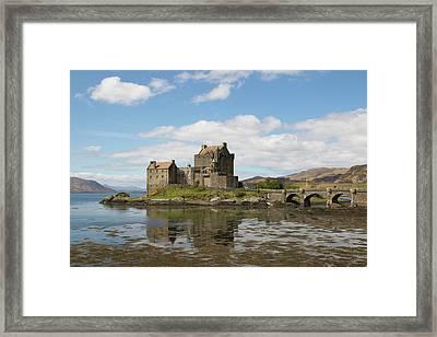 Framed Print featuring the photograph Eilean Donan Castle - Scotland by Karen Van Der Zijden