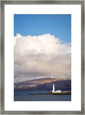 Eilean Musdile Lighthouse On Lismore Framed Print