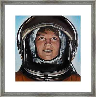 Eileen Collins Framed Print by Simon Kregar