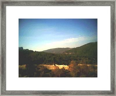 Framed Print featuring the digital art Ein-kerem Valley by Dr Loifer Vladimir