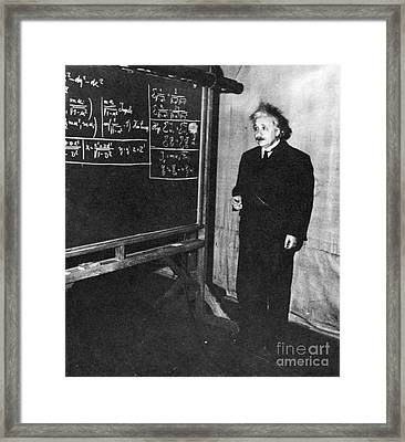 Einstein At Princeton University Framed Print