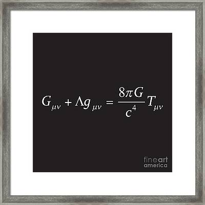 Einstein Field Equation Formula Framed Print
