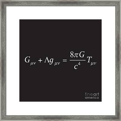 Einstein Field Equation Formula Framed Print