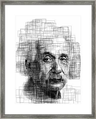Einstein  Framed Print by Harold Belarmino