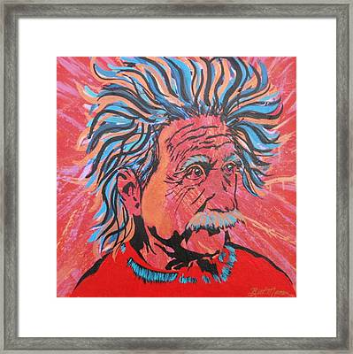 Einstein-in The Moment Framed Print