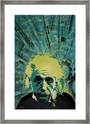 Einstein Framed Print by Tai Taeoalii