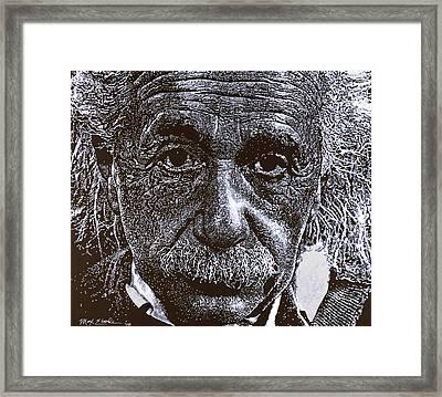 Einstein Framed Print by Max Eberle
