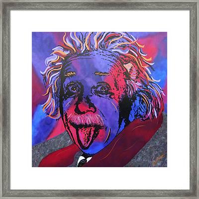 Einstein-professor Framed Print