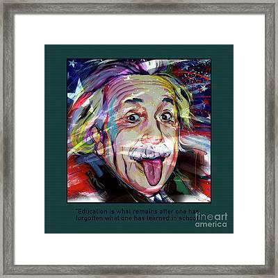 Einstein Quotation 01 Framed Print by Gull G