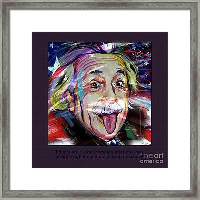 Einstein Quotation Framed Print by Gull G